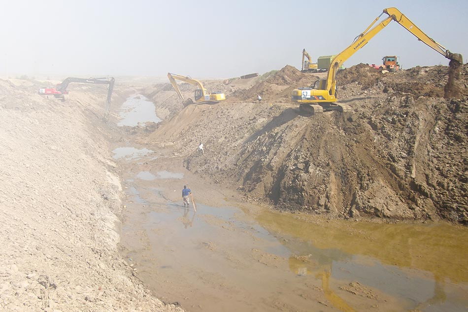 Construction of irrigation facilities